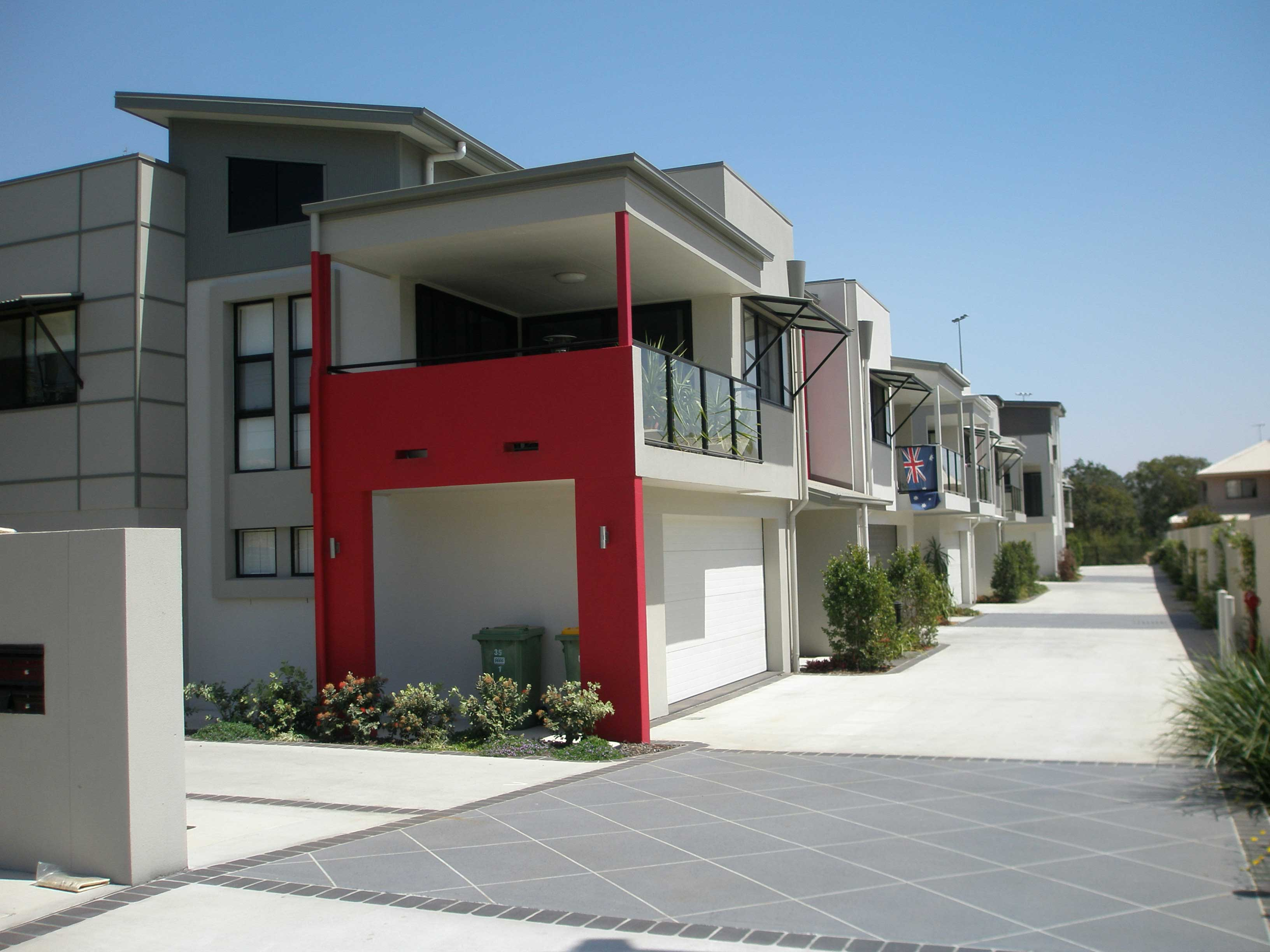 Modern townhouse block sarada homes for Modern townhouse