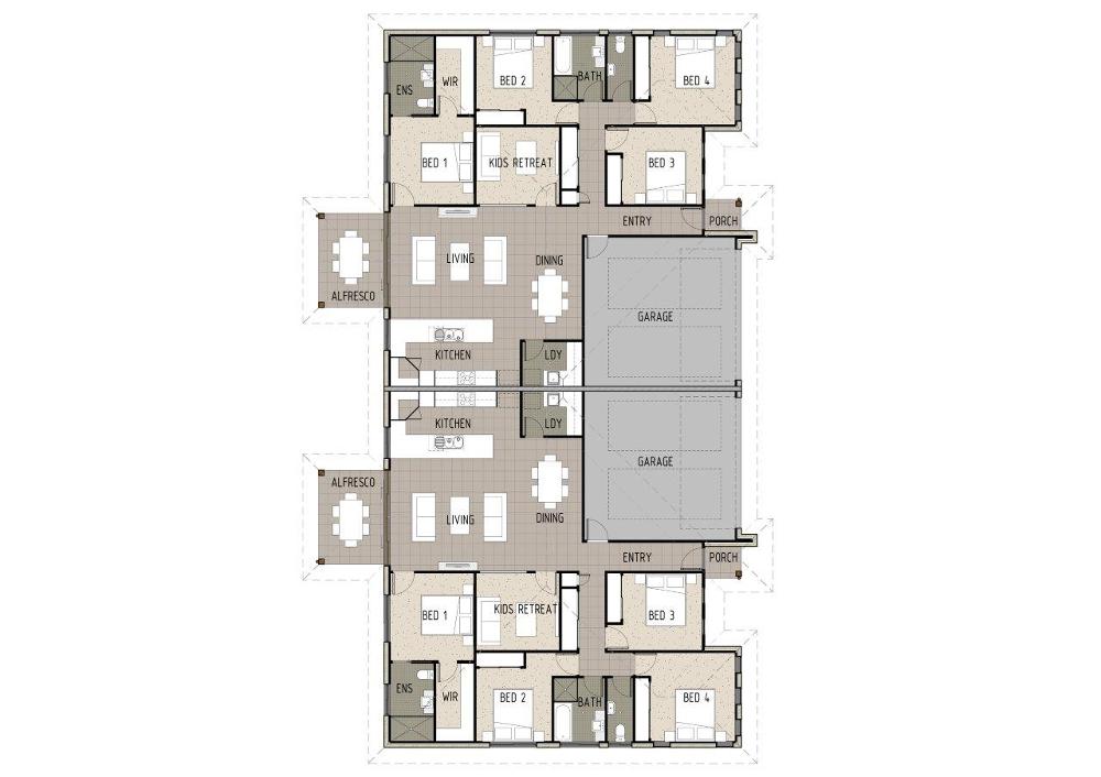 Home Design Pollux D4004 - Ground Floor