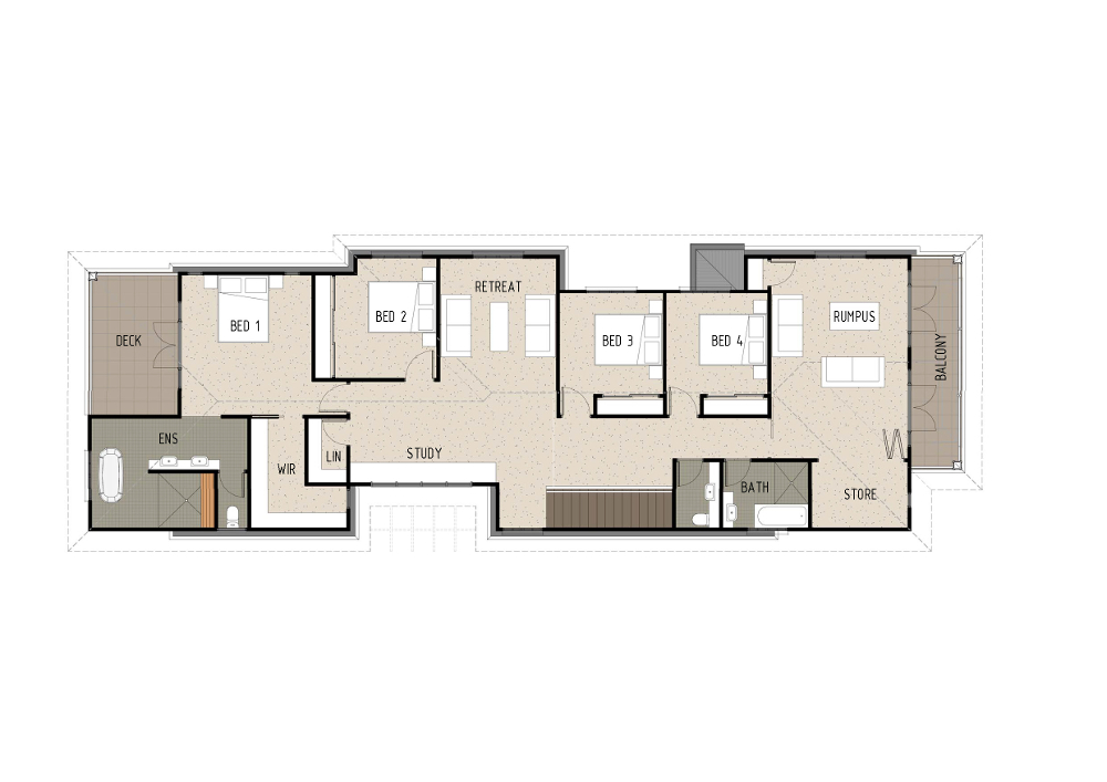 Home Design - Arae - H4014 - First Floor