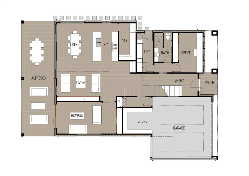 Home Design - Brahe - M4005 - Ground Floor
