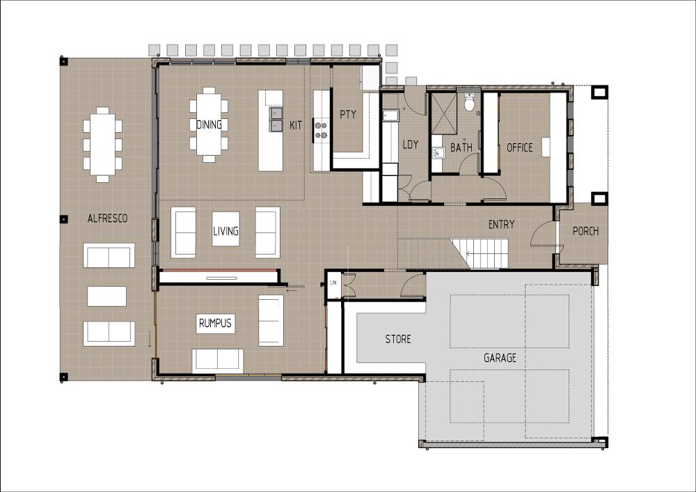 Home Design - Brahe - M4005 - Ground Floor