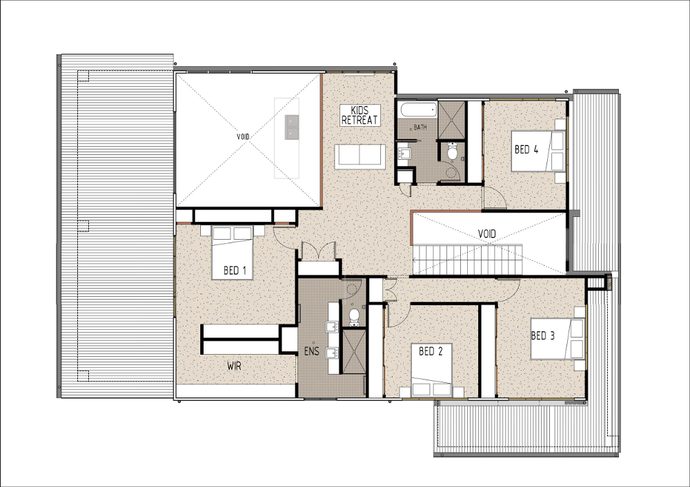Home Design - Brahe - M4005 - First Floor