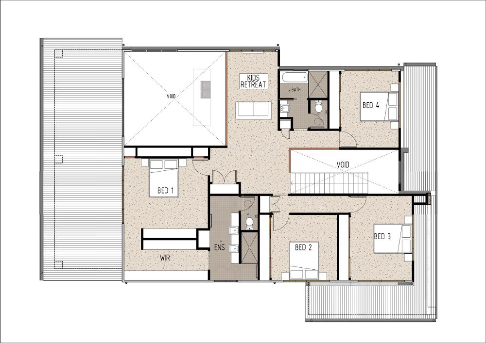 Home Design - Brahe - M4005 - First Floor