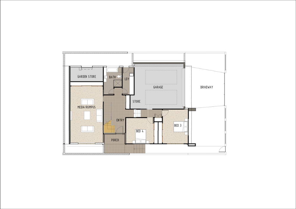 Home Design - Altair - M4007 - Ground Floor