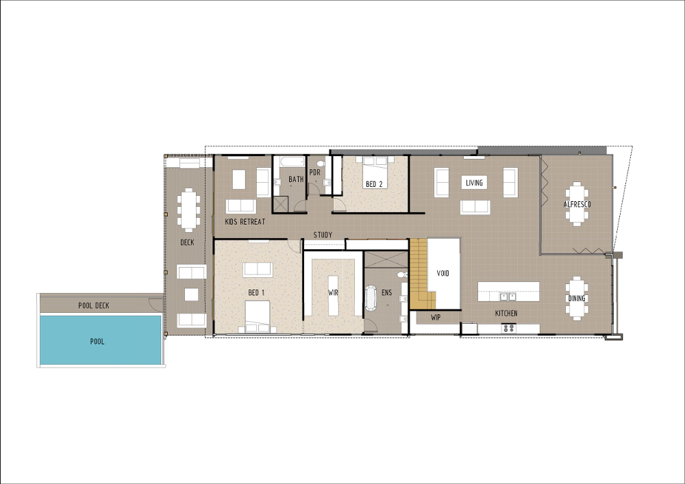 Home Design - Altair - M4007 - First Floor