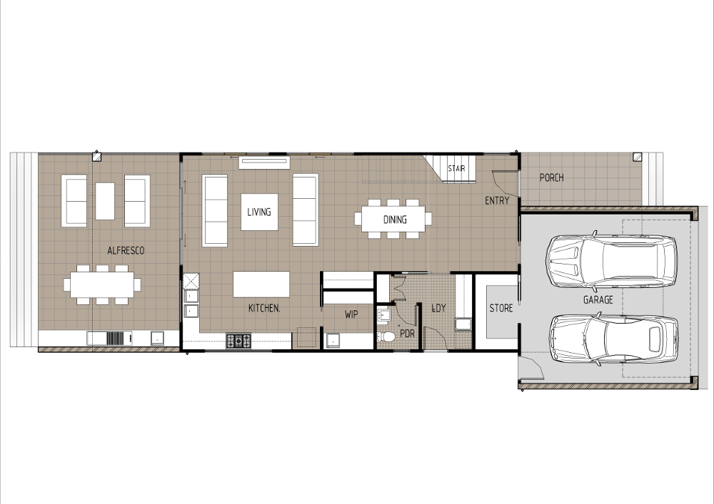 Home Design - Tauri - M4014 - Ground Floor
