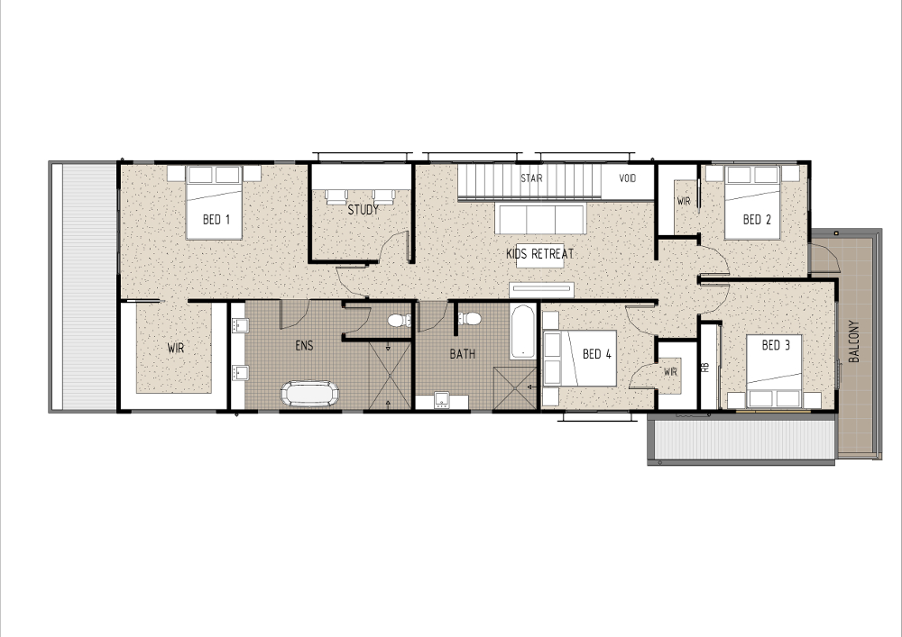 Home Design - Tauri - M4014 - First Floor