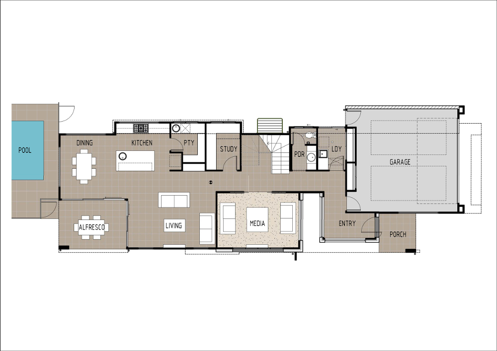 Home Design - Hydrae - SL4003a - Ground Floor