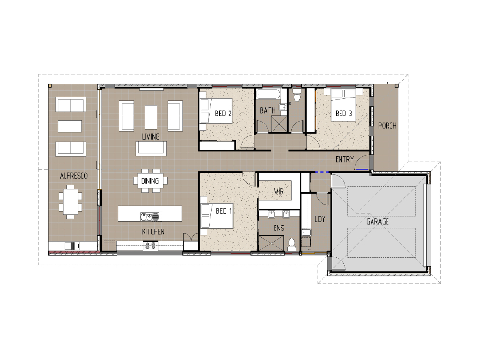Home Design - Delphini - T3003A - Ground Floor