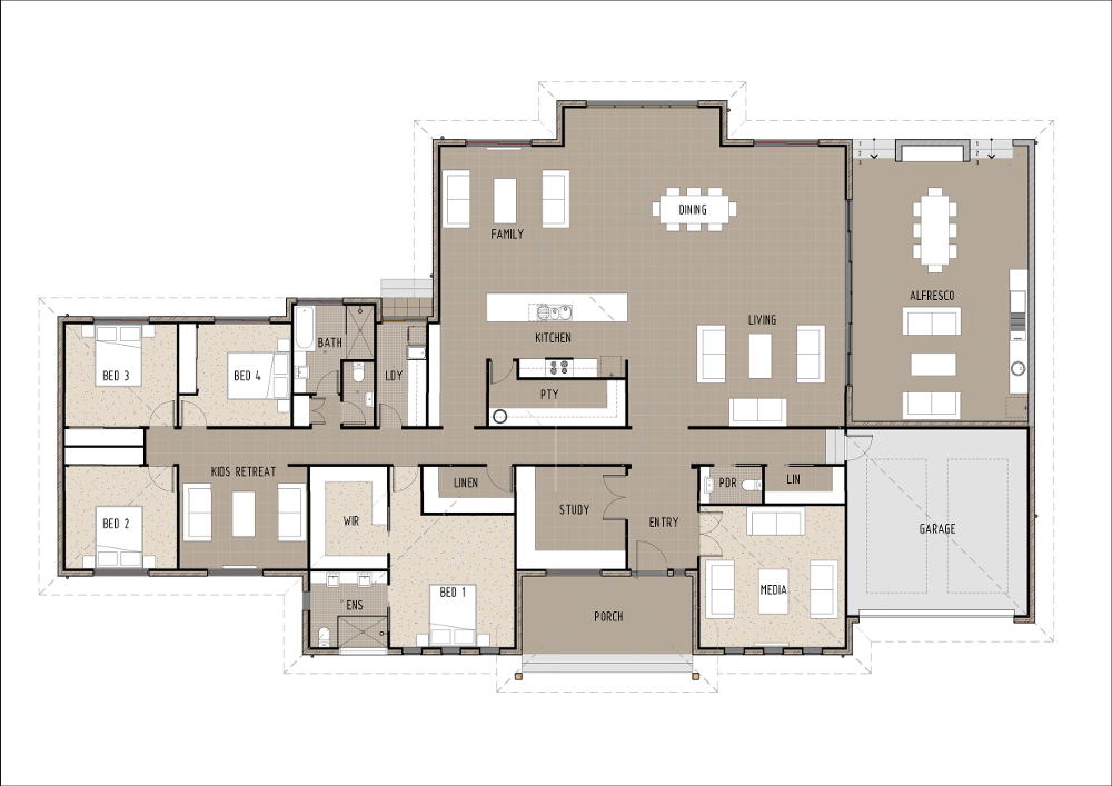 Home Design - Carinae - T4005 - Ground Floor