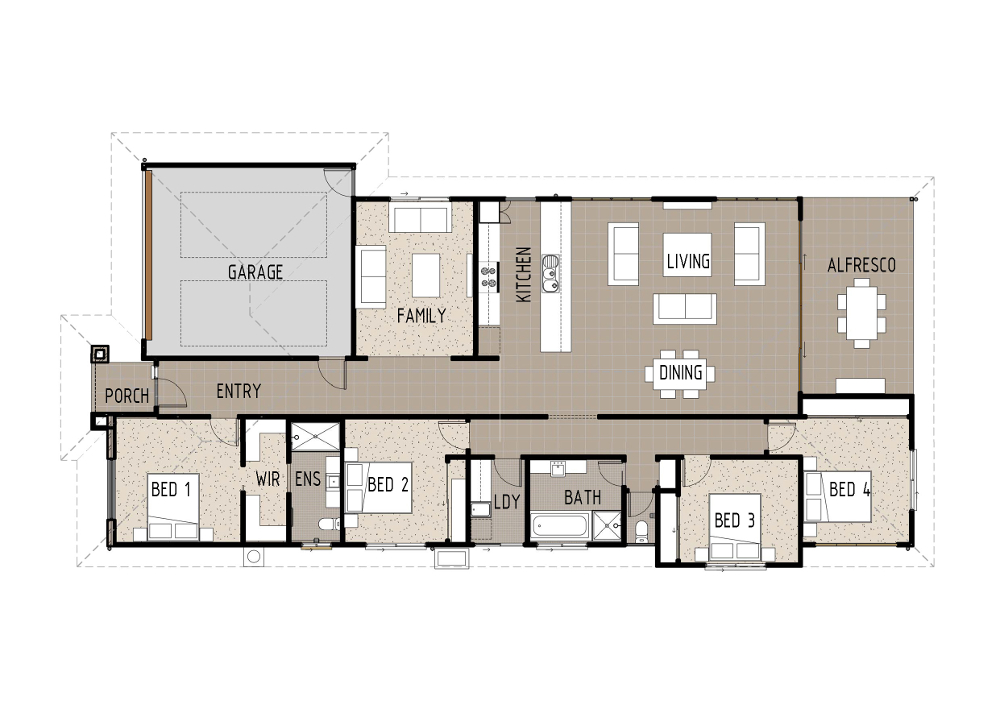 Home Designs - Kepler - T4006b - Ground Floor