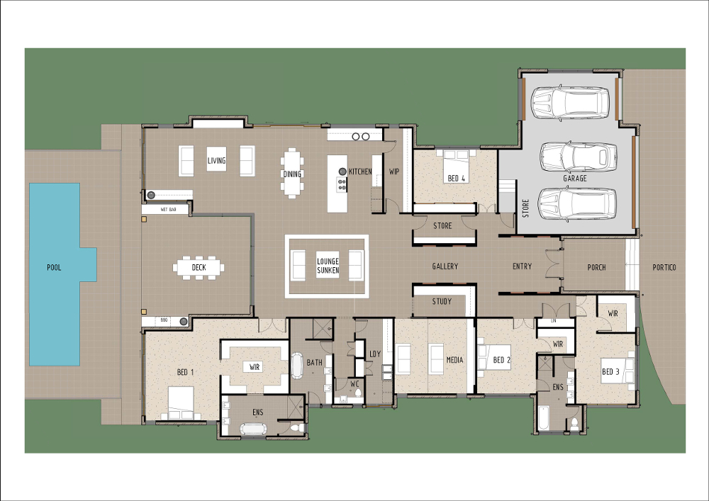 Home Design - Pegasi - t4011 - Ground Floor