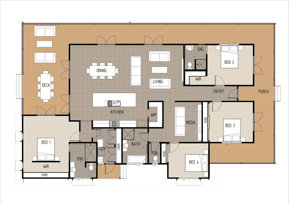 Home Design - Leonis - T4029 - Ground Floor