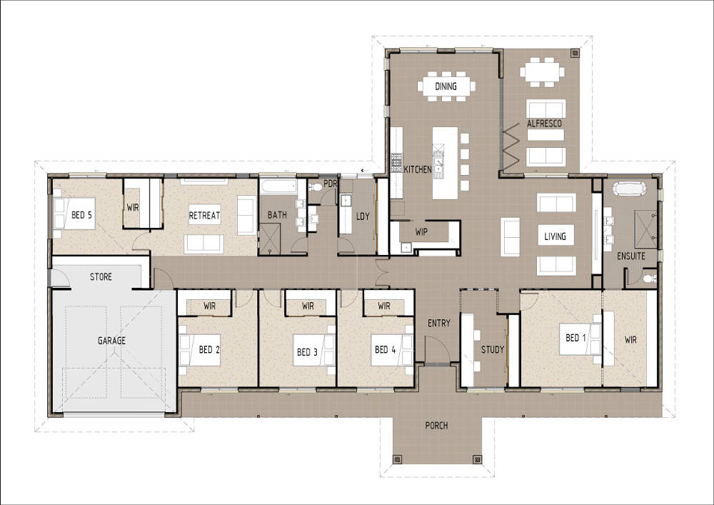 Home Design - Volantis - T5001b - Ground Floor