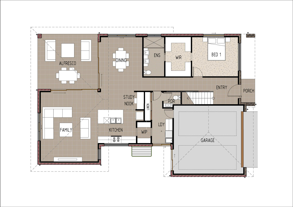 Home Design - Eridani - T5004b - Ground Floor