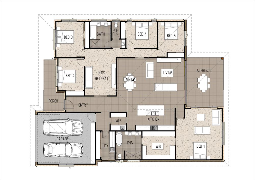 Home Design - Mintaka - T5006b - Ground Floor