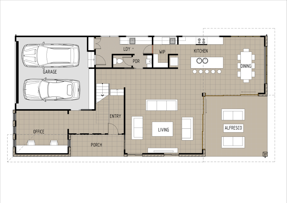 Home Design - Sirius - T5009b - Ground Floor