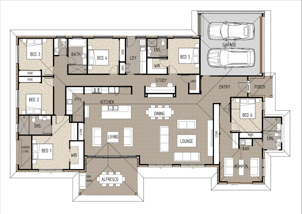 Home Design - Sol - T6001 - Ground Floor